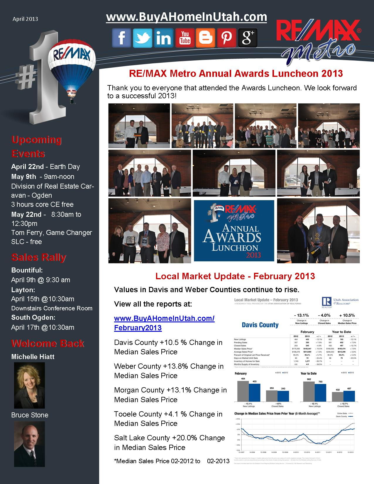 RE/MAX Metro's April 2013 Newsletters